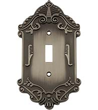 Victorian Toggle Switch Plate, Grandeur VICSWPLTT1