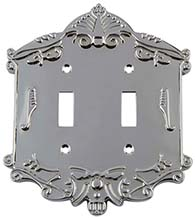 Victorian Double Toggle Switch Plate, Grandeur VICSWPLTT2