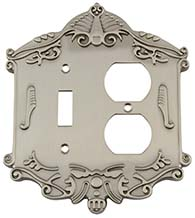 Victorian Outlet and Toggle Switch Plate, Grandeur VICSWPLTTD