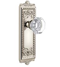 Crystal Chambord Knob With Windsor Rose, Grandeur WINCHM