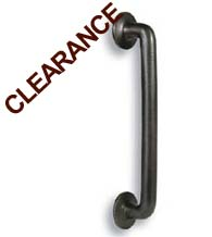 15 Inch C-Shaped Door Pull With Circular Mounts, Hamilton GH-023