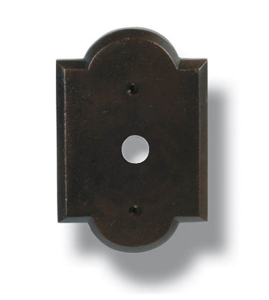 Great Arched Edge Bronze Doorbell Plate, Hamilton DBP 104 BP