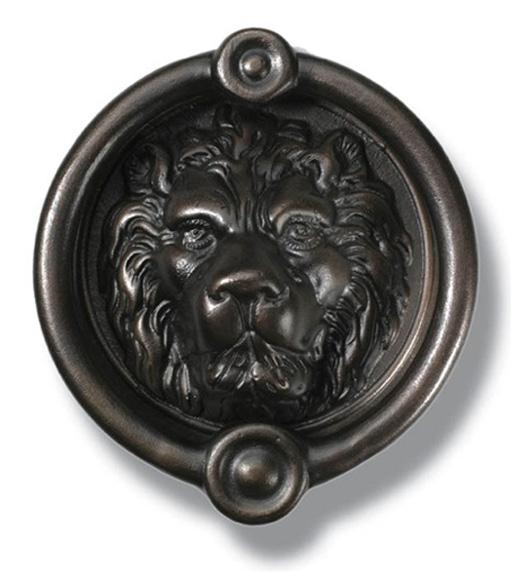 6 1 2 inch bronze lion head door knocker hamilton ldk 305 bp - Large lion head door knocker ...