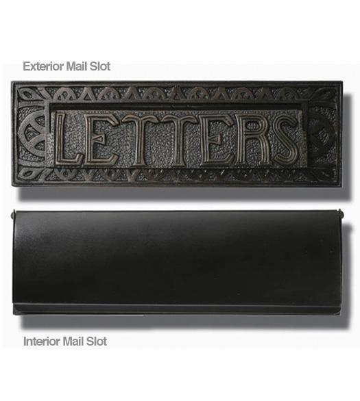 Decorative Bronze Patina Mail Slot Hamilton Ms 301 Bp
