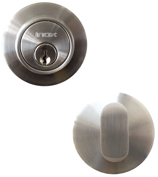 Stainless Steel 2-1/2 Round Deadbolt