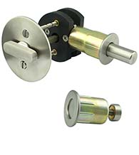 Round Barn Door Privacy Lock, INOX EC1216