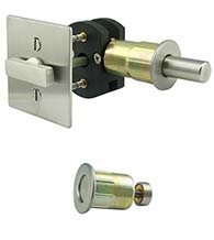 Square Barn Door Privacy Lock, INOX EC1314