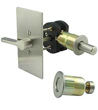 Rectangular Barn Door ADA Privacy Lock, INOX EC1517