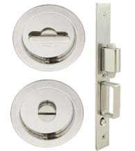Round Luna Pocket Door Privacy Set, INOX FH22PD8440