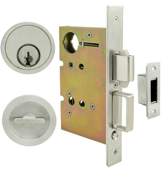 Luna Keyed Mortise Pocket Door Hardware