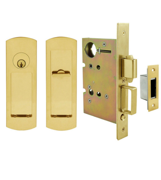 Arc Keyed Mortise Pocket Door Hardware