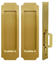 Crown Pocket Door Passage Set, INOX FH32PD8010