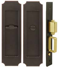 Crown Pocket Door Privacy Set, INOX FH32PD8440