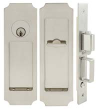 Crown Pocket Door Keyed Entry, INOX FH32PD8450
