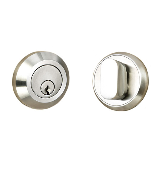 Stainless Steel 2-3/8 Round Deadbolt