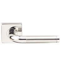 Two-Tone Stainless Steel Vienna Lever with Square Rose, INOX SE108