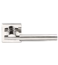 Stainless Steel Sequoia Lever with Square Rose, INOX SE251
