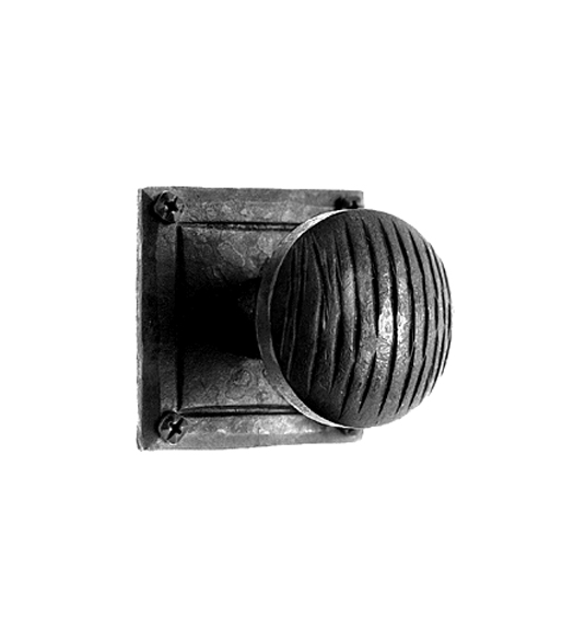 Iron Art Old World Knob With Square Rose