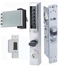 Storefront Door Mortise Deadlatch Keypad Lock Sets, KABA-3001-DLPx