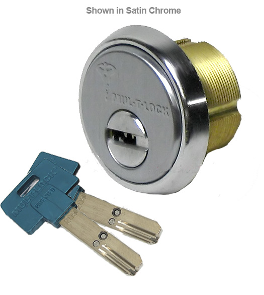 High Security Store Front Door 1 Inch Mortise Cylinder, Mul-T-Lock ...