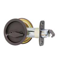 Round Pocket Door Lock Privacy, Kwikset 335