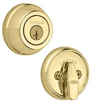 Gatelatch Single Cylinder Deadbolt, Kwikset 598-S
