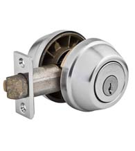 Gatelatch Double Cylinder Deadbolt, Kwikset 599-S
