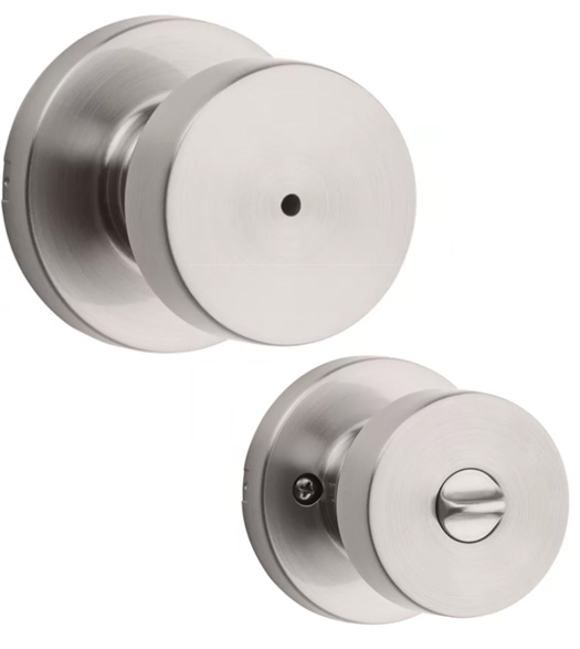 Kwikset Pismo Knobset with Round Rose