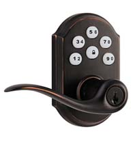 SmartCode Tustin Lever and Lock, Kwikset 911-TNL