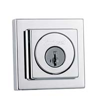 Contemporary Square Single Cylinder Deadbolt, Kwikset 993-SQT