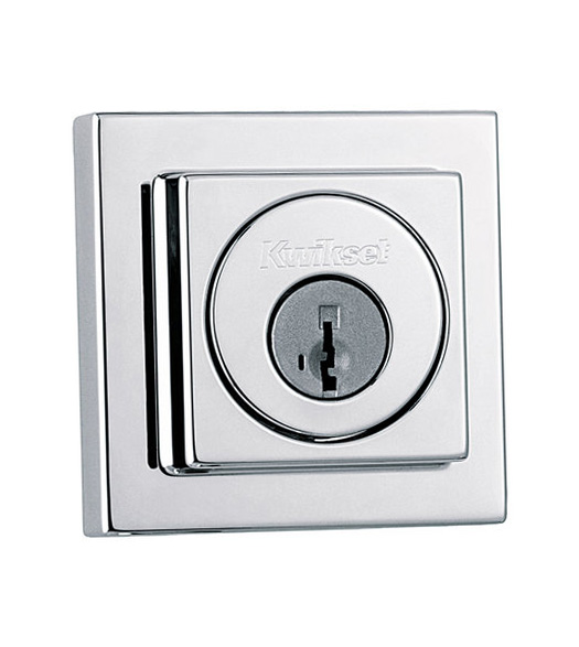 Contemporary Square Double Cylinder Deadbolt