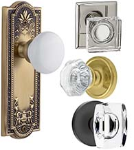 Glass and Porcelain Door Knobs