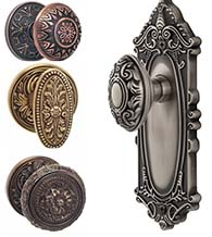 Elegant Ornate Door Knobs