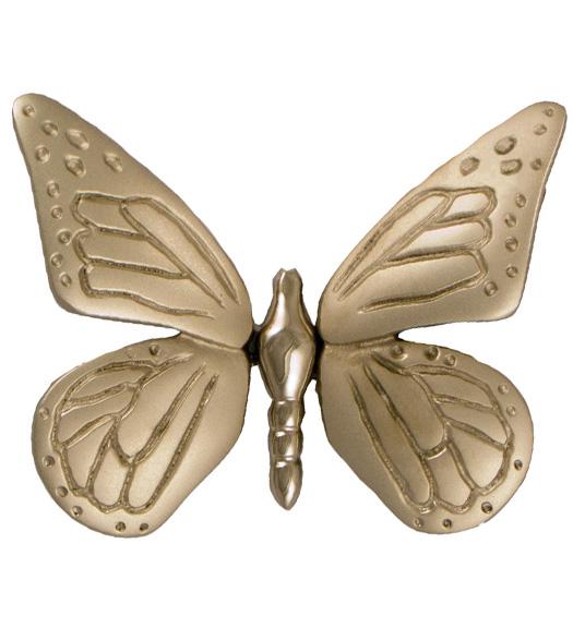 Incroyable Nickel Silver Butterfly Door Knocker, Michael Healy MH1003
