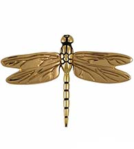 Large Polished Brass Dragonfly Door Knocker, Michael Healy MH1011