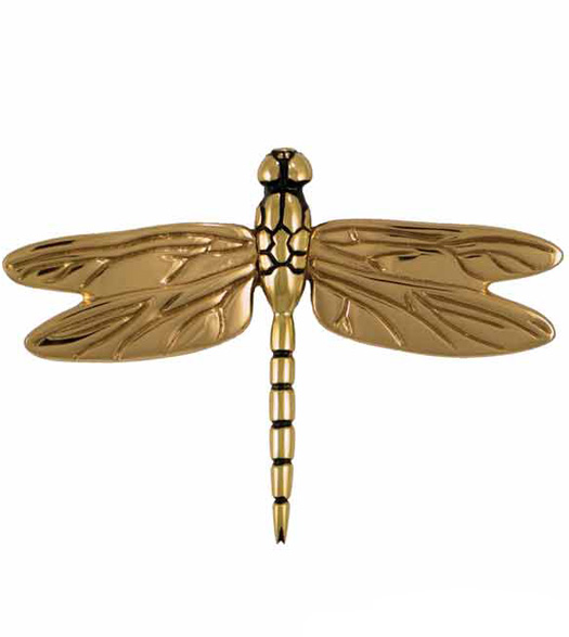 Brass and Bronze Dragonfly Door Knocker