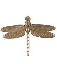 Large Nickel Silver Dragonfly Door Knocker, Michael Healy MH1013