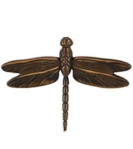 Large Oiled Bronze Dragonfly Door Knocker, Michael Healy MH1014