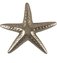 Large Nickel Silver Starfish Door Knocker, Michael Healy MH1063