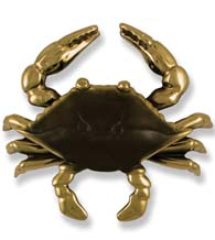 Large Brass and Brown Crab Door Knocker, Michael Healy MH1151