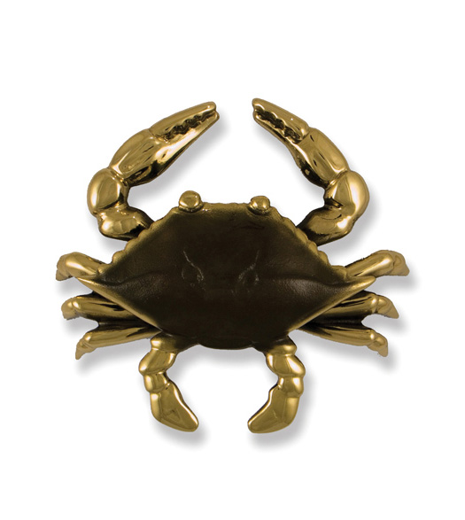 Premium Polished Brass and Brown Crab Knocker