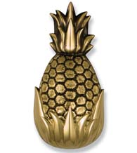 Large Brass Palm Springs Pineapple Door Knocker, Michael Healy MH1501