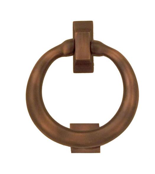 Oiled Bronze Ring Premium Size Door Knocker