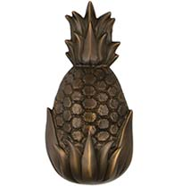 6-1/2 Inch Oiled Bronze Palm Springs Pineapple Door Knocker, Michael Healy MHS13