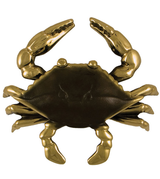 Standard Brass and Brown Blue Crab Knocker