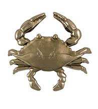 4-1/2 Inch Nickel Silver Crab Door Knocker, Michael Healy MHS133
