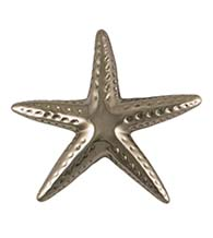 4-3/4 Inch Nickel Silver Starfish Door Knocker, Michael Healy MHS143