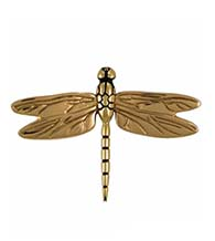 4-1/2 Inch Polished Brass Dragonfly Door Knocker, Michael Healy MHS21