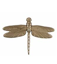 4-1/2 Inch Silver Nickel Dragonfly Door Knocker, Michael Healy MHS22