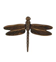 4-1/2 Inch Oiled Bronze Dragonfly Door Knocker, Michael Healy MHS23